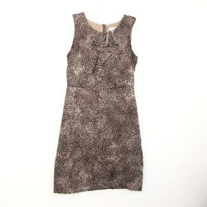 Ann Taylor Loft Animal Print Ruffle Dress AFK